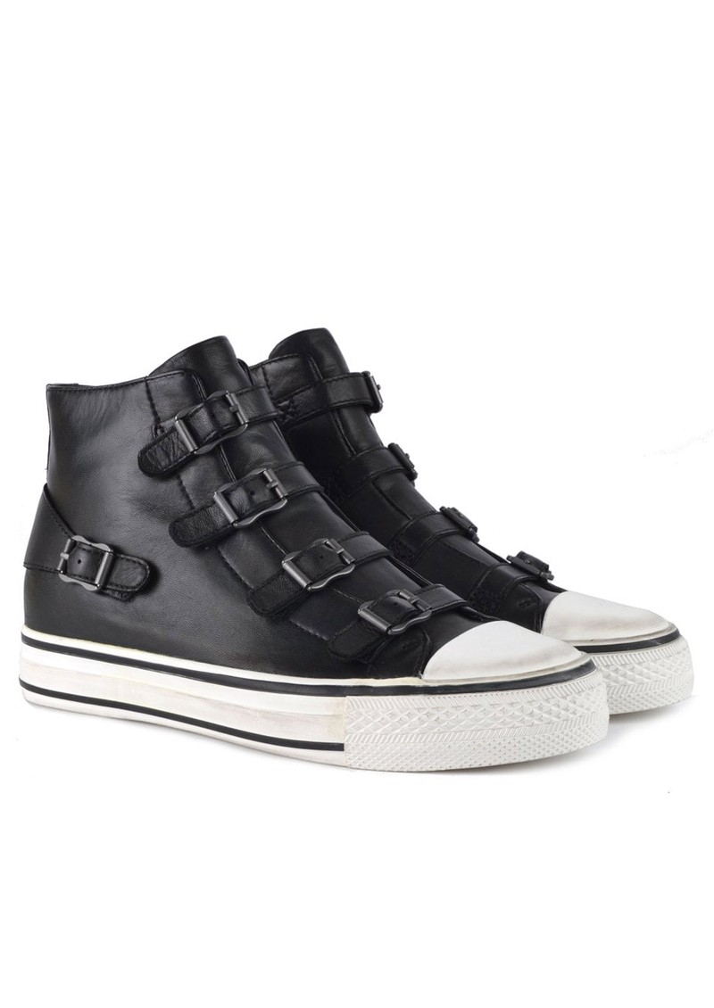 Ash Virgin Buckle Leather Trainers - Black main image