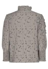 LEVETE ROOM Odette 2 Printed Blouse - Grey