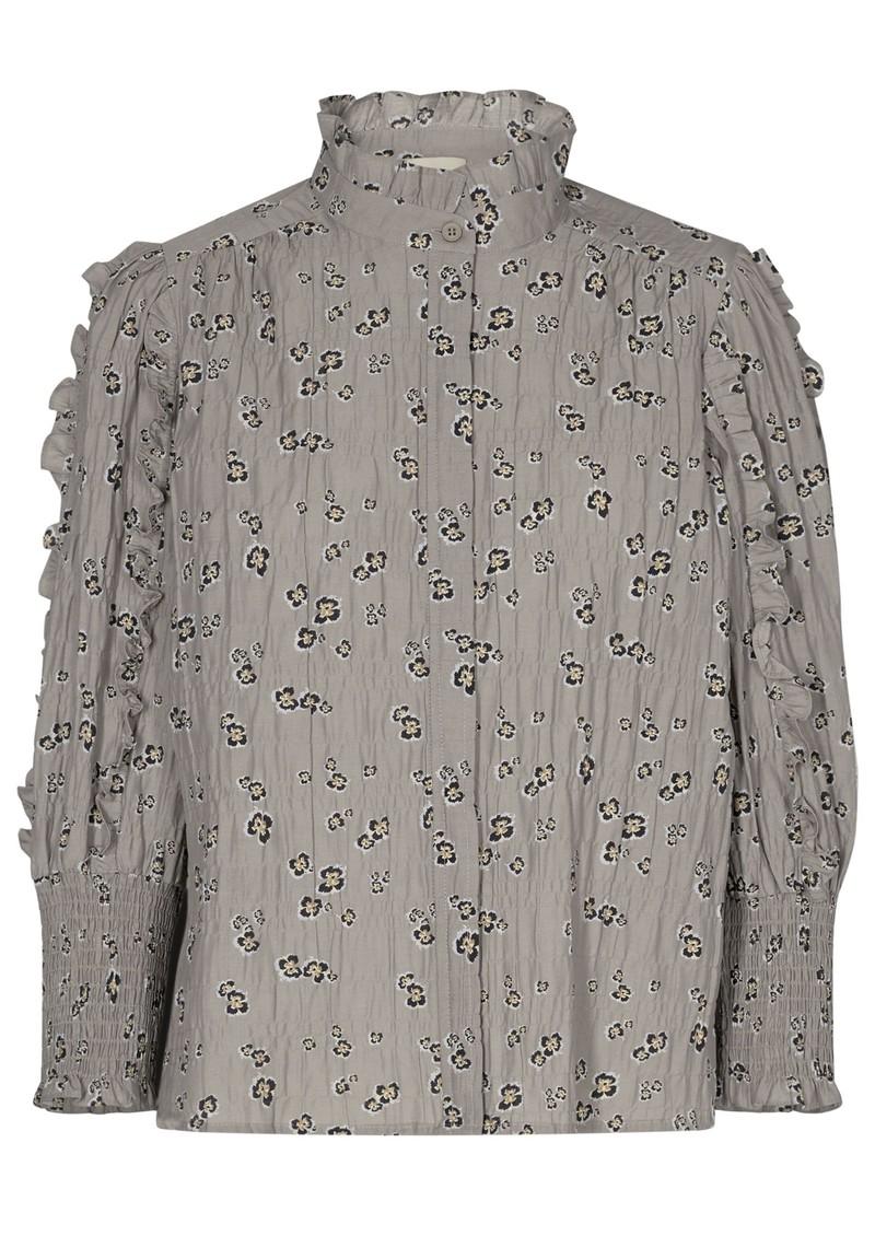 LEVETE ROOM Odette 2 Printed Blouse - Grey main image