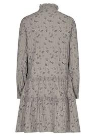 LEVETE ROOM Odette 2 Printed Dress - Grey