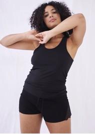 STRIPE & STARE Lace Racerback Vest - Black