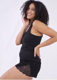 STRIPE & STARE Lace Sleep Shorts - Black