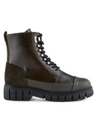 SHOE THE BEAR Rebel Leather Lace Up Boot - Khaki