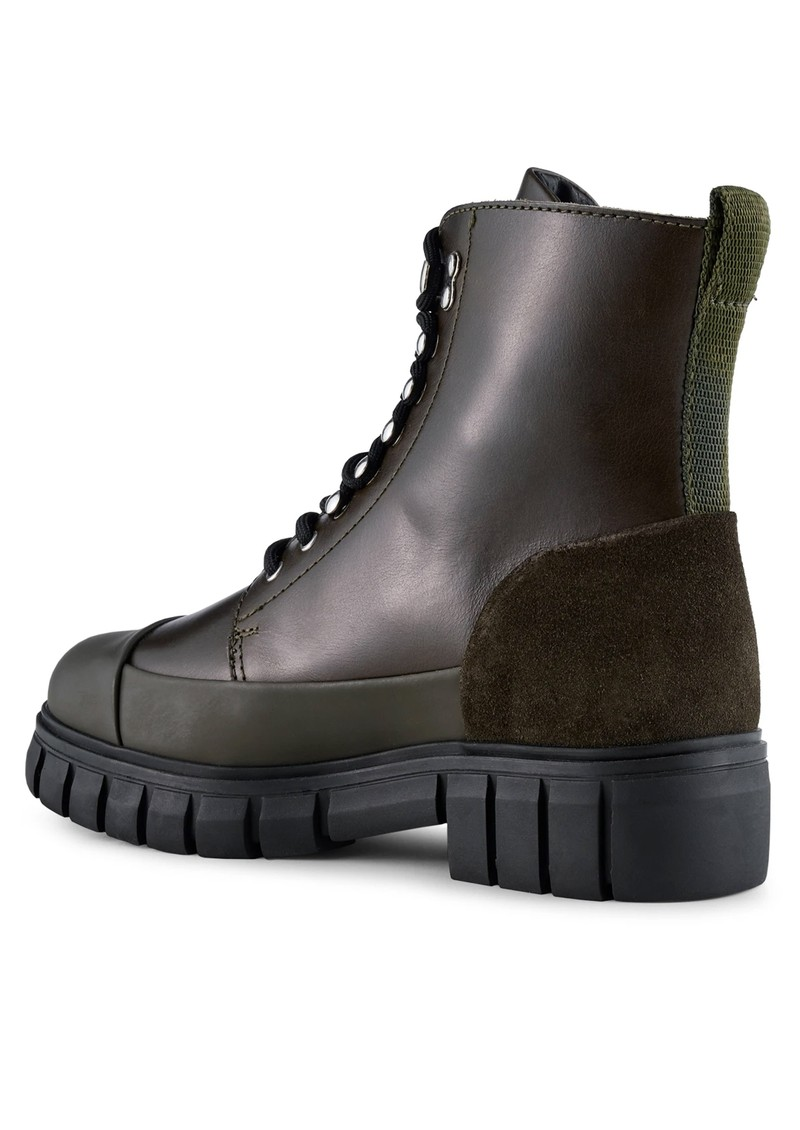 SHOE THE BEAR Rebel Leather Lace Up Boot - Khaki main image