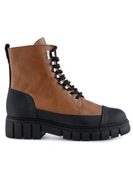 SHOE THE BEAR Rebel Leather Lace Up Boot - Tan