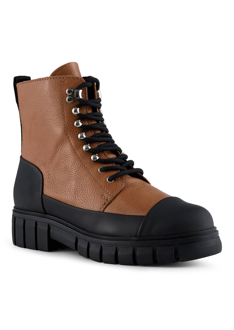 SHOE THE BEAR Rebel Leather Lace Up Boot - Tan main image