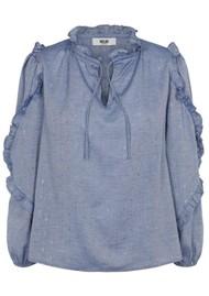 MOLIIN Taylor Organic Cotton Shirt - Chanbrey Blue