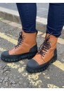 Rebel Leather Lace Up Boot - Tan additional image