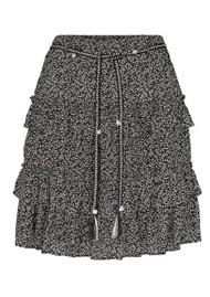 MOLIIN Harmoni Printed Rah-Rah Skirt - Black