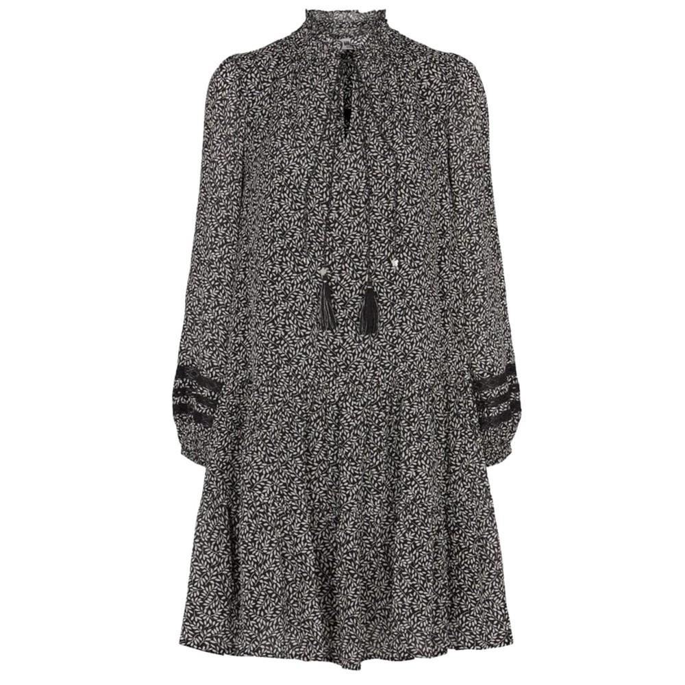 Alba Printed Dress - Black
