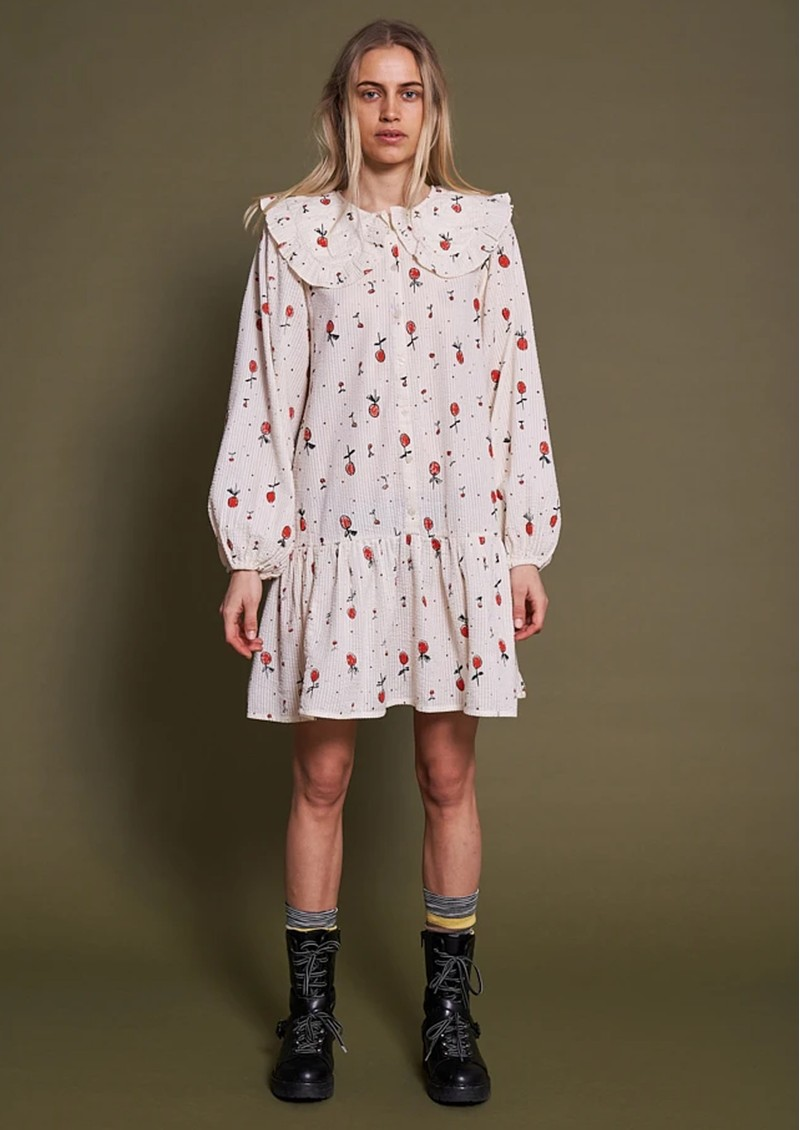 STELLA NOVA Sassi May Cotton Printed Dress - Cream Cherries main image