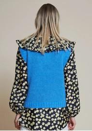 STELLA NOVA Ceci Knitted Vest Top - Clear Blue