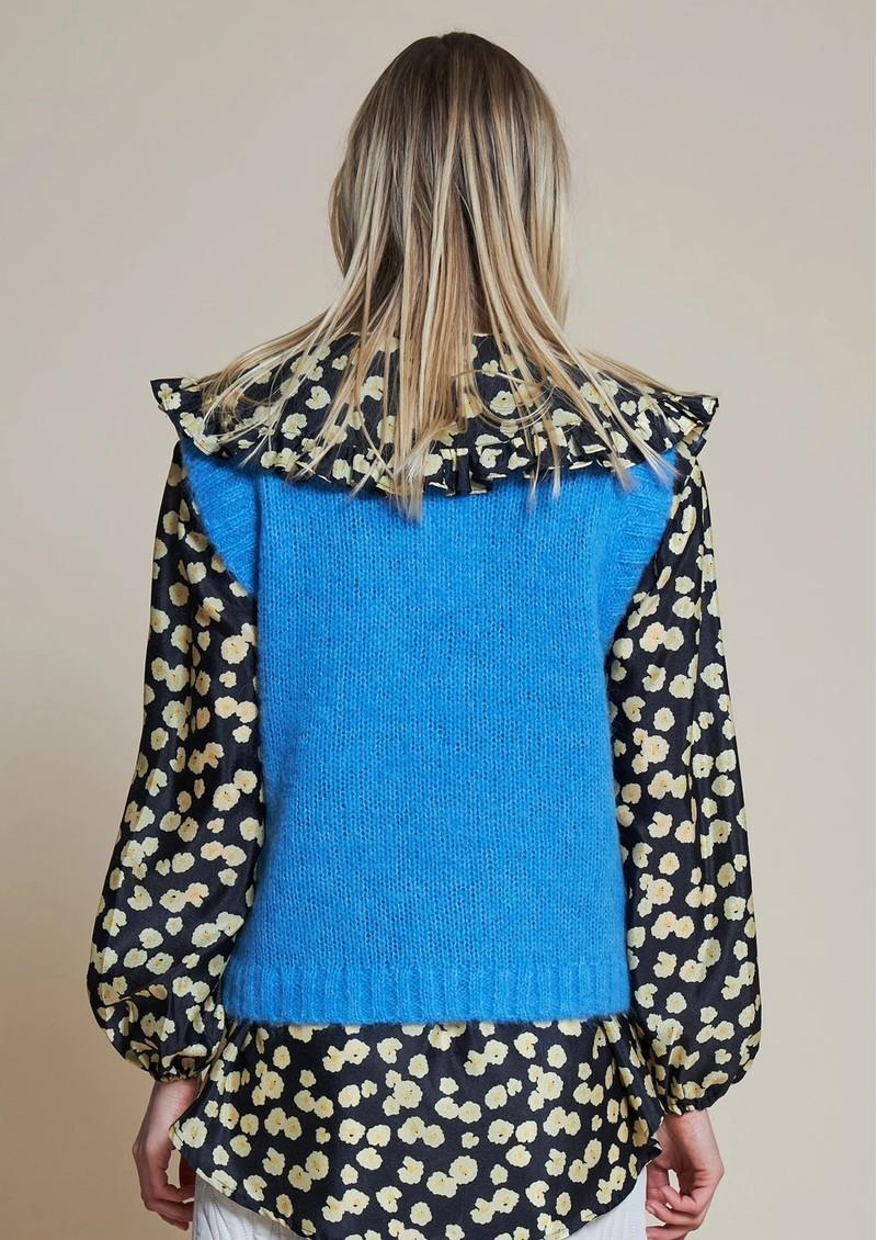 STELLA NOVA Ceci Knitted Vest Top - Clear Blue main image