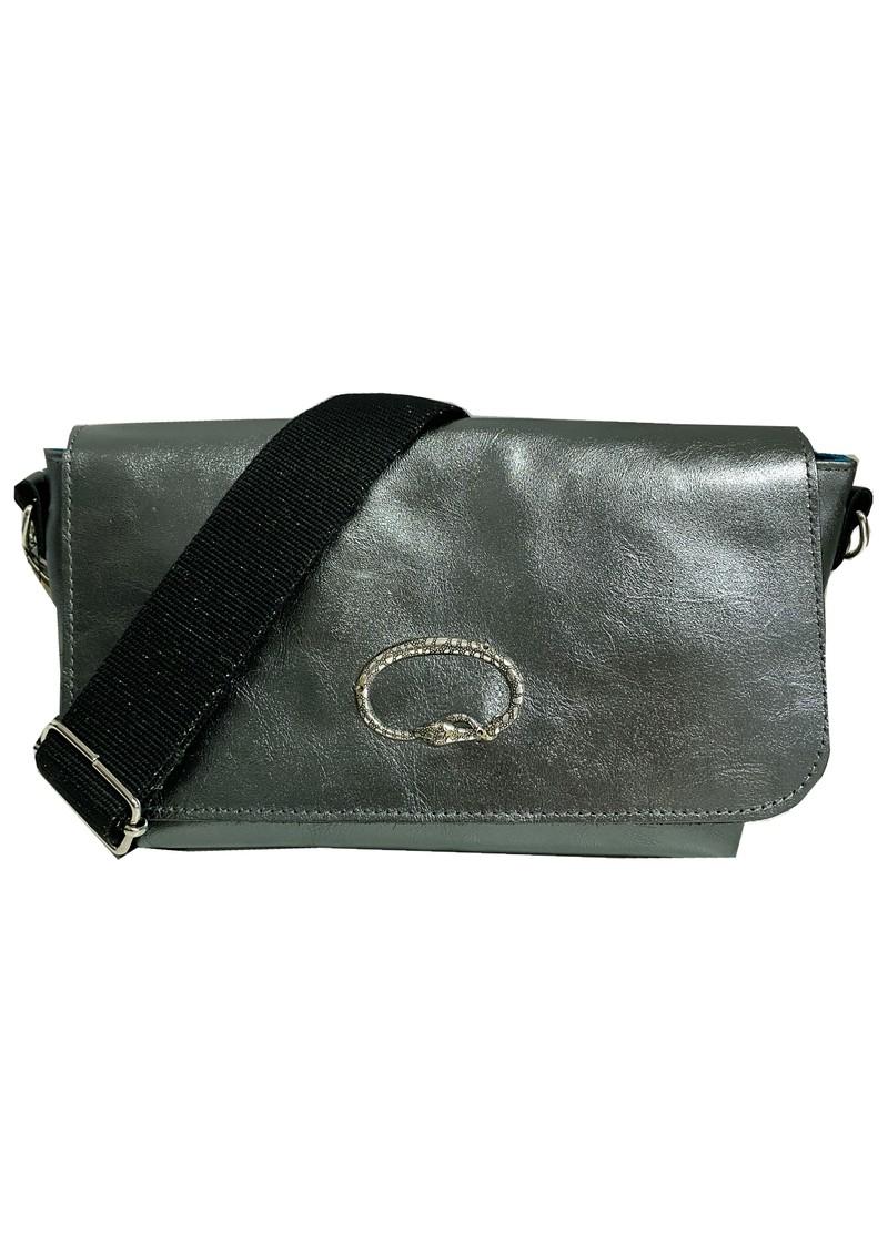 Sous Les Paves Mai Tai Metallic Leather Snake Handbag - Canon main image