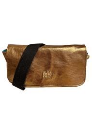 Sous Les Paves Mai Tai Leather Monkey Handbag - Bronze