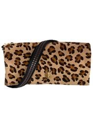 Sous Les Paves Spritz Fold Over Cat Leopard Bag - LEopard
