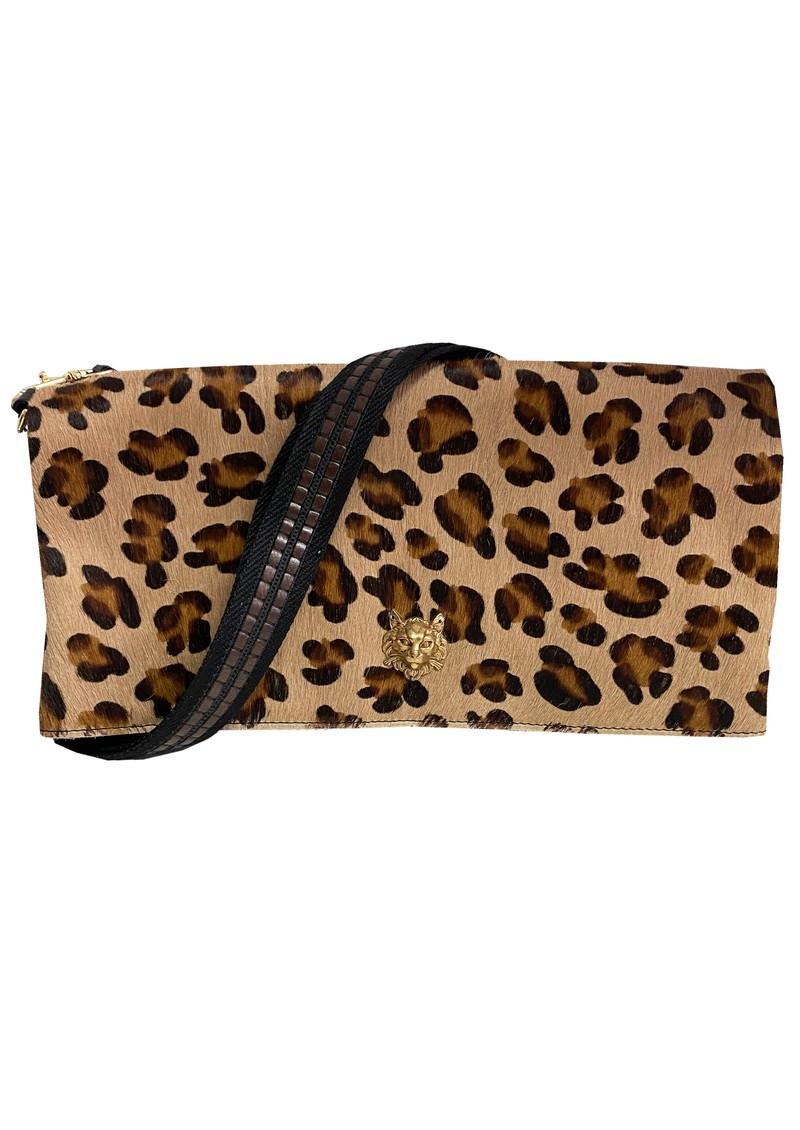 Sous Les Paves Spritz Fold Over Cat Leopard Bag - LEopard main image