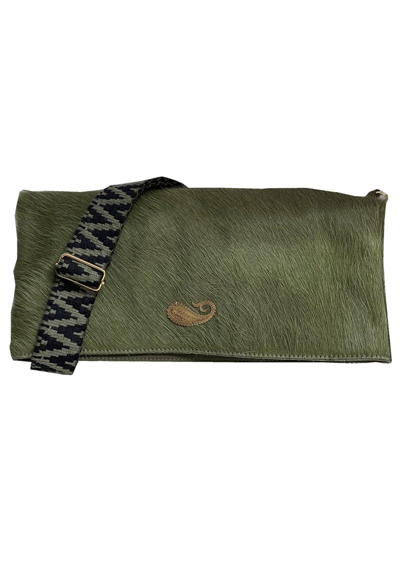 Sous Les Paves Spritz Fold Over Paisley Bag - Khaki main image