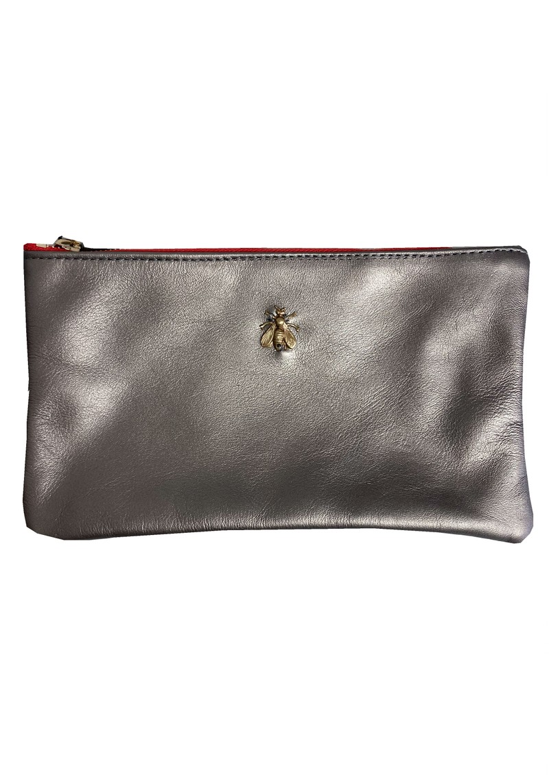 Sous Les Paves Tsutsuki Gold Bee Leather Clutch - Canon main image