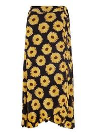 FABIENNE CHAPOT Bobo Frill Wrap Skirt - Sunset Flowers Small