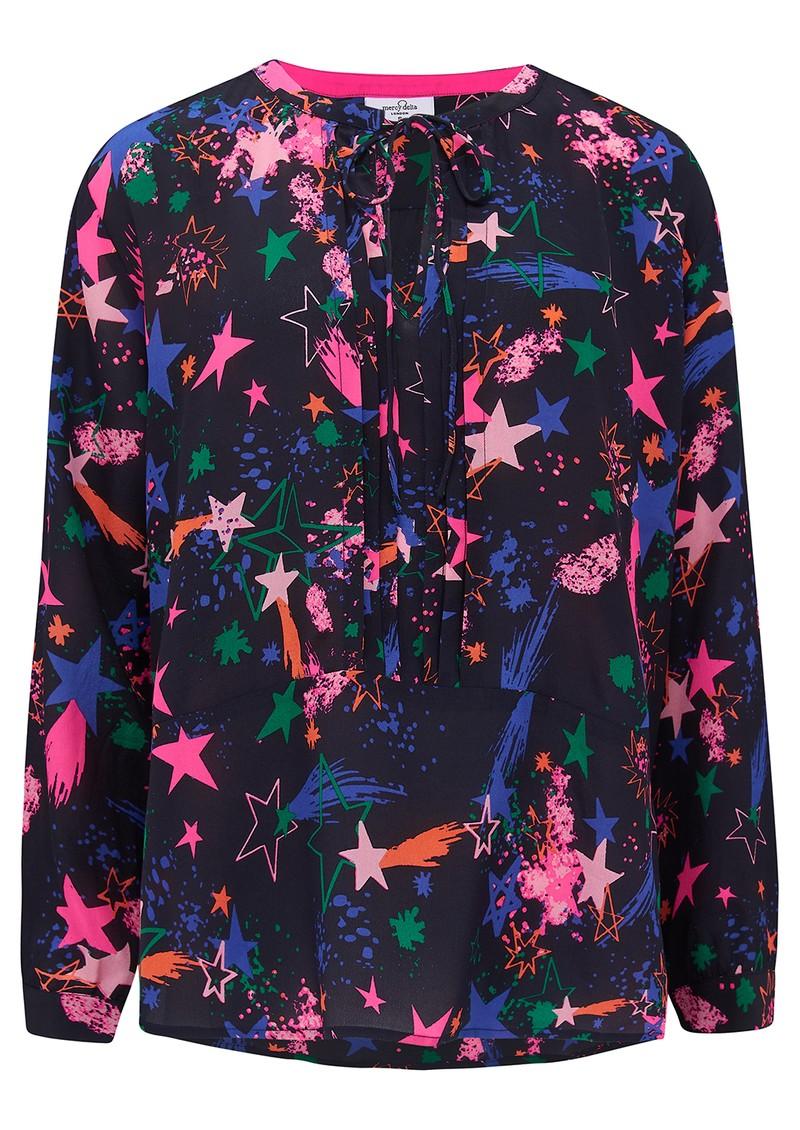 Mercy Delta Fenton Silk Blouse - Fireworks Agate main image