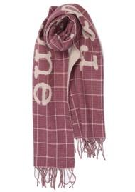 RAG & BONE Wiltshire Logo Cotton Mix Scarf - Soft Rose