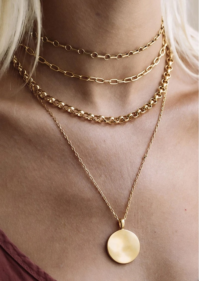 ANNA BECK Bar & Ring Chain Necklace - Gold main image