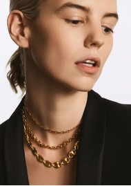 ANNA BECK Bar & Ring Chain Necklace - Silver