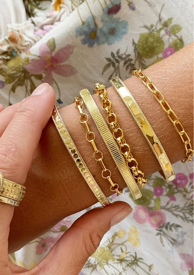 ANNA BECK Bar & Ring Chain Bracelet - Silver main image