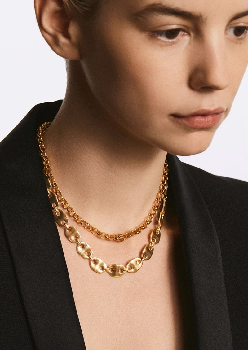 ANNA BECK Rolo Chain Collar Necklace - Gold  main image