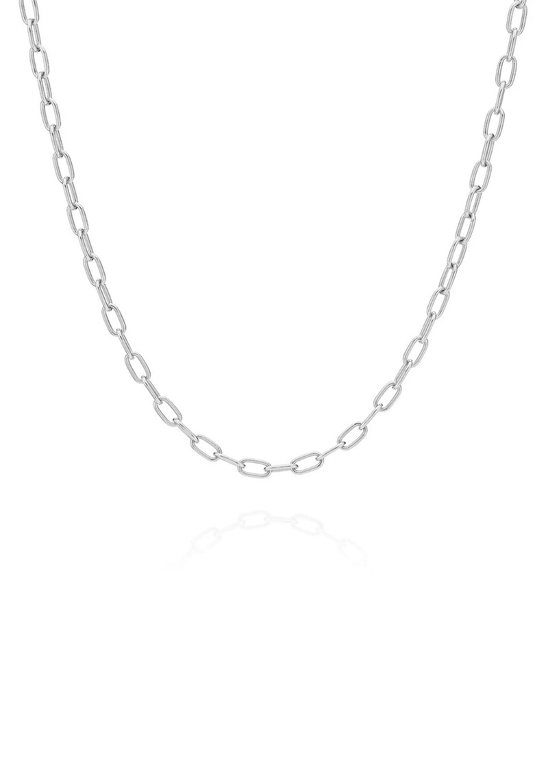 ANNA BECK Elongated Oval Chain Necklace -Silver main image