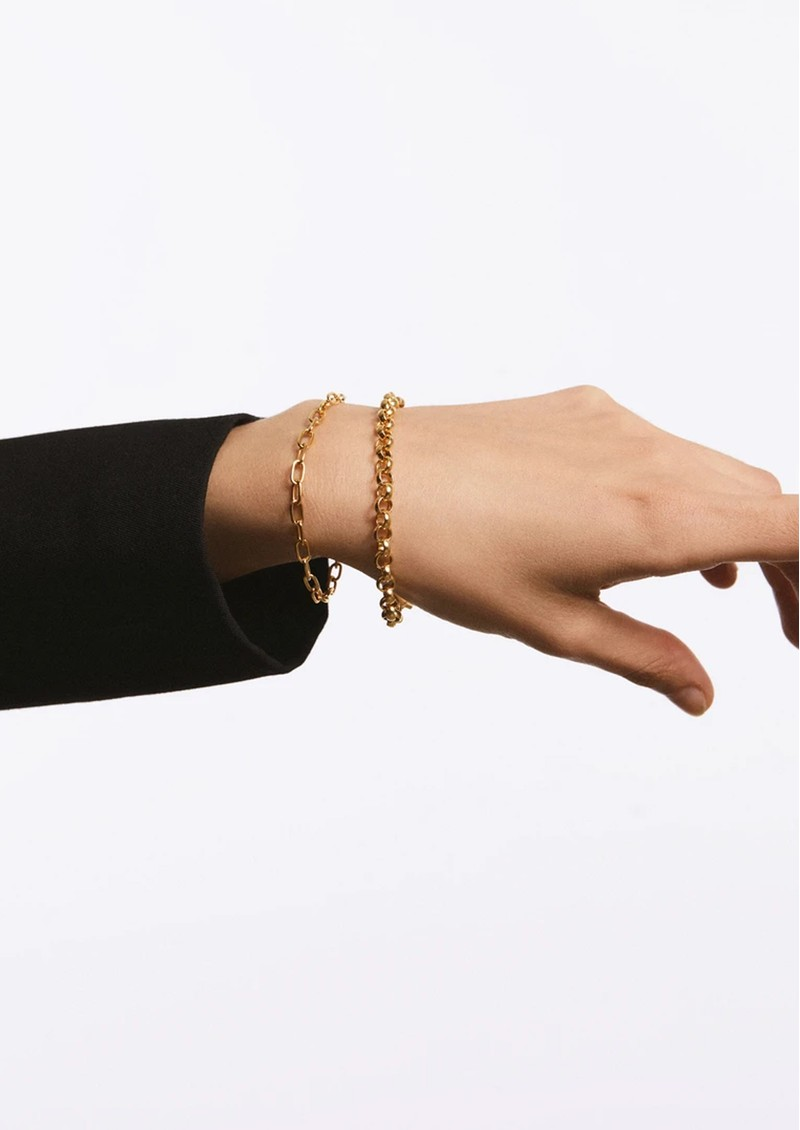 ANNA BECK Elongated Oval Chain Bracelet - Silver main image
