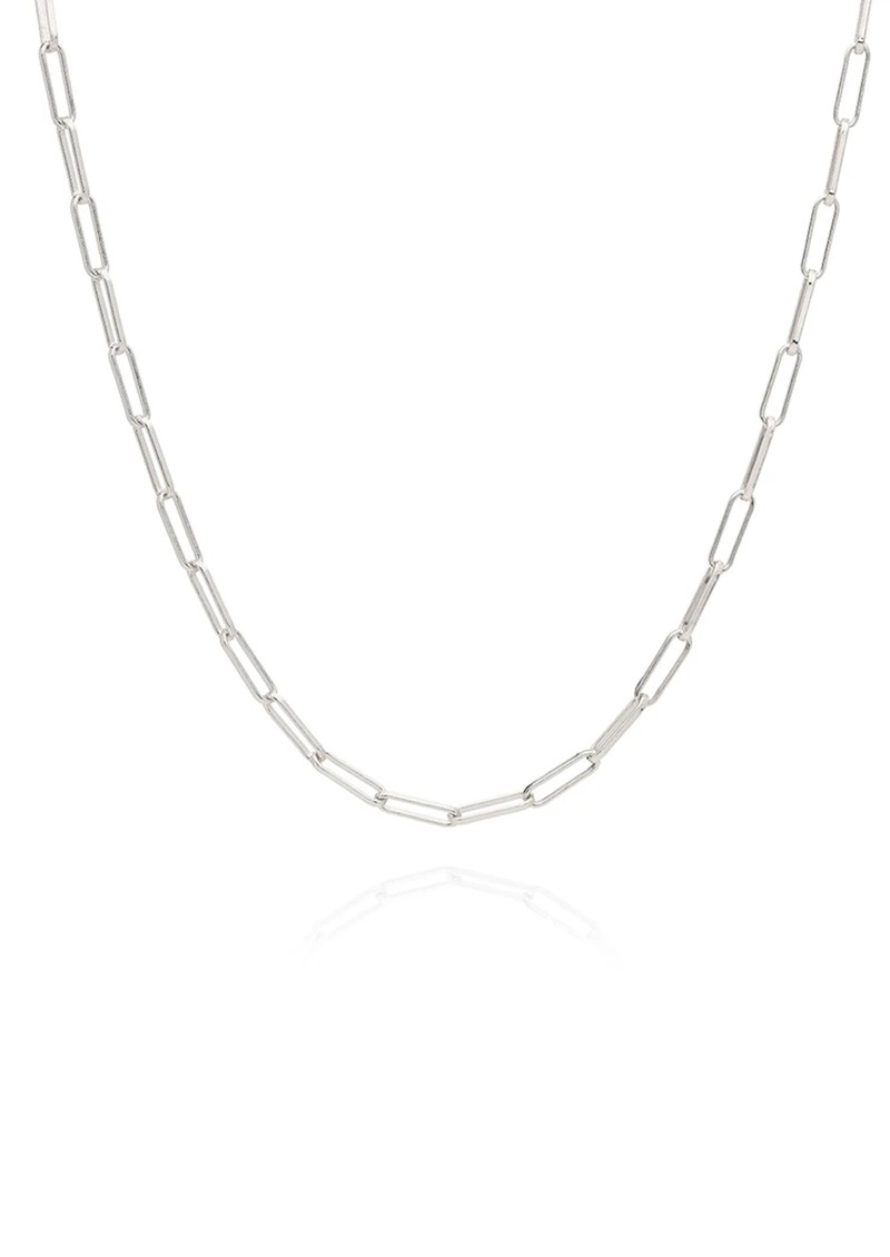 ANNA BECK Elongated Box Chain Necklace - Silver main image