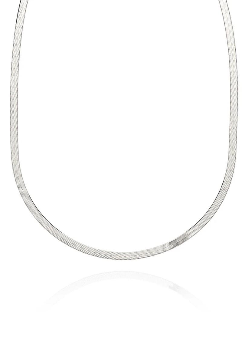 ANNA BECK Herringbone Chain Necklace - Silver main image