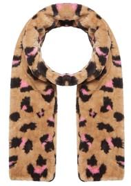 NOOKI Ari Faux Fur Scarf - Camel Leopard