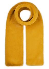 NOOKI Coco Faux Fur Scarf - Mustard