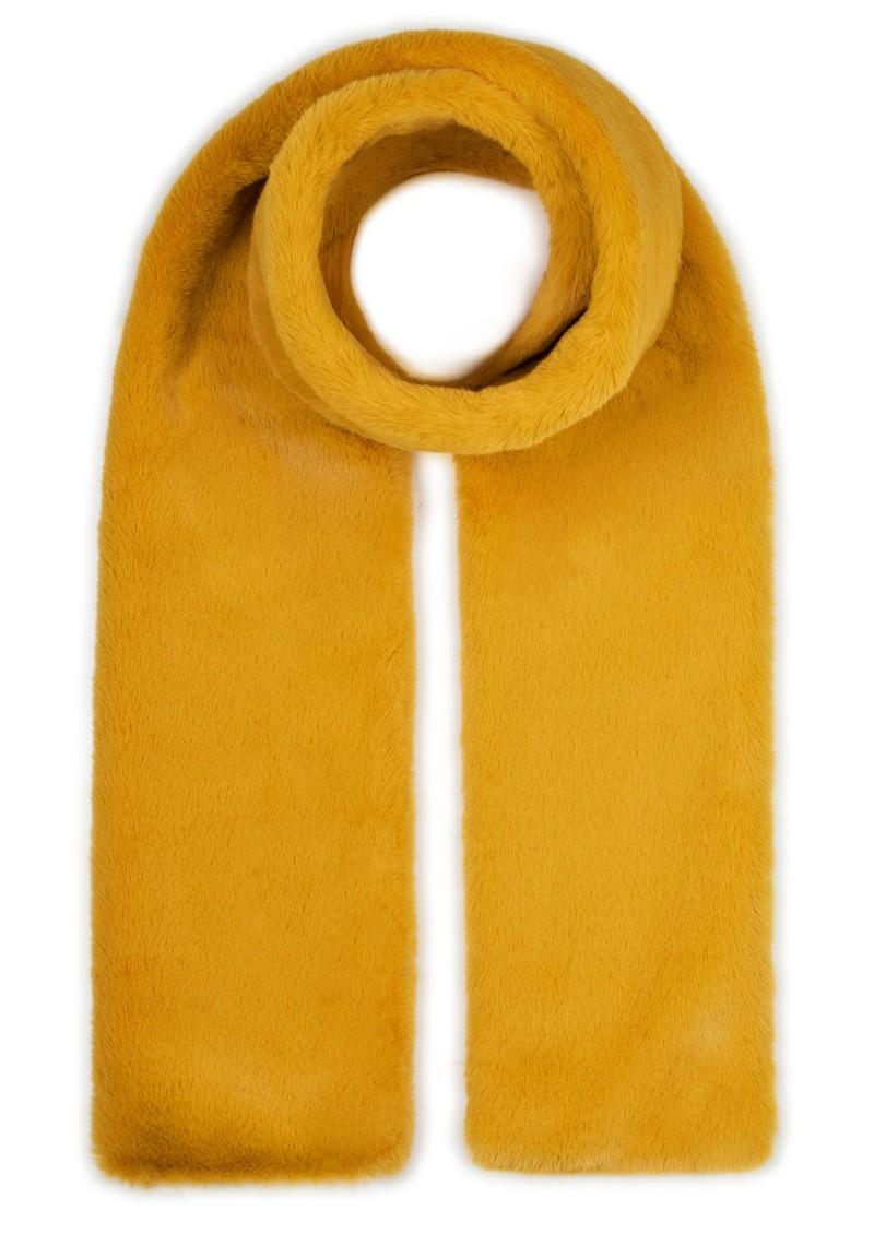 NOOKI Coco Faux Fur Scarf - Mustard main image