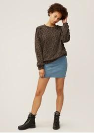 NOOKI Piper Cotton Sweater - Leopard