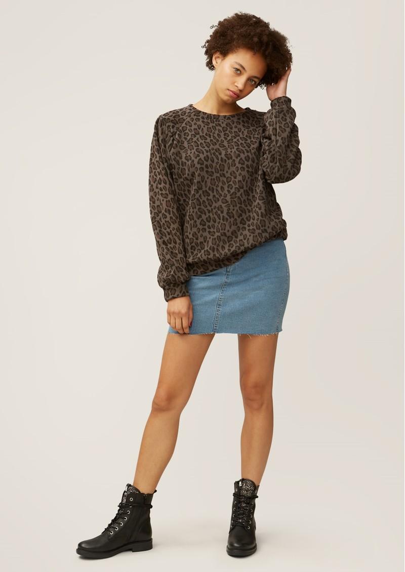 NOOKI Piper Cotton Sweater - Leopard  main image