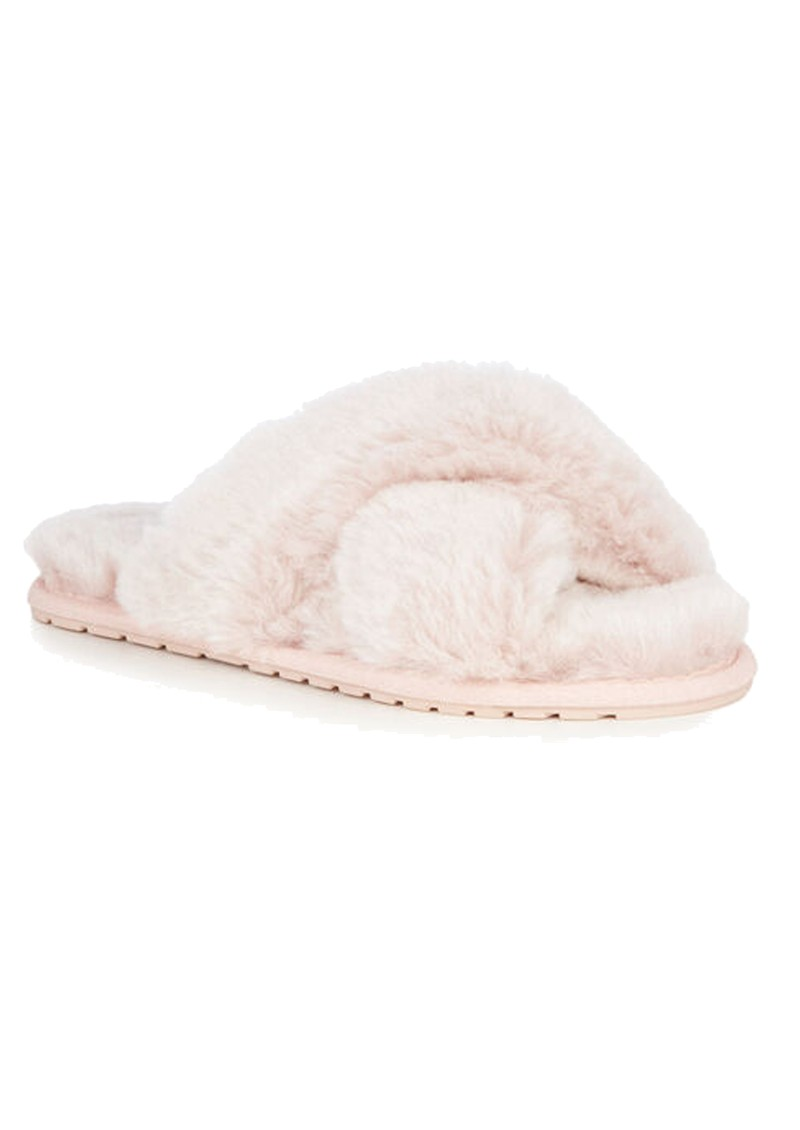 EMU Mayberry Frost Crossover Sheepskin Slipper Slide - Musk Pink main image