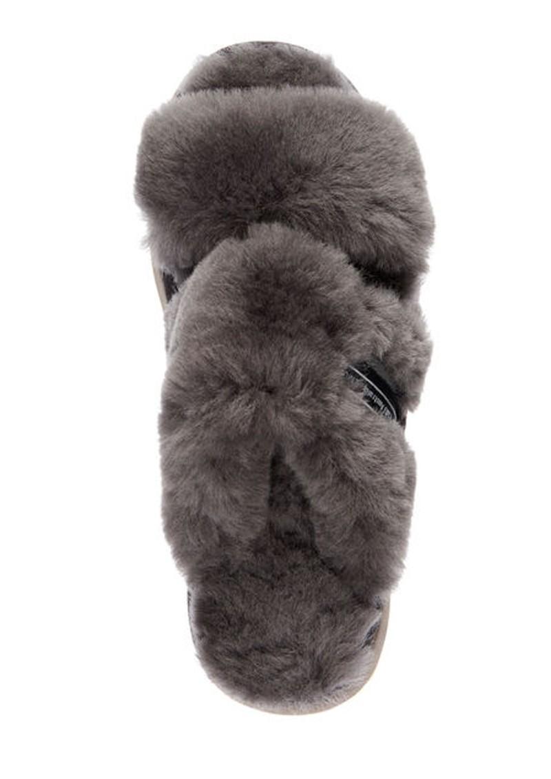 EMU Wobbegong Sheepskin Slipper Slide - Charcoal main image