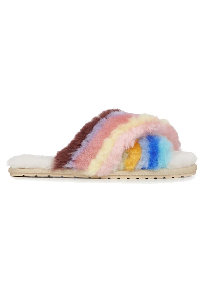 EMU Mayberry Rainbow Crossover Sheepskin Slipper Slide - Multi main image