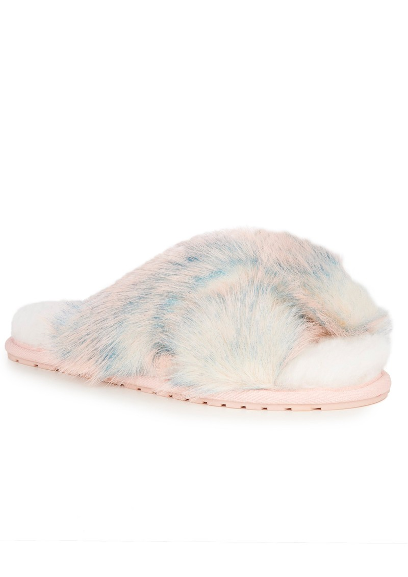 EMU Mayberry Lava Crossover Sheepskin Slipper Slide - Pink main image