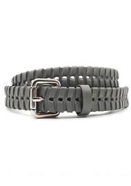NOOKI Bradley Whipstitch Leather Belt - Grey