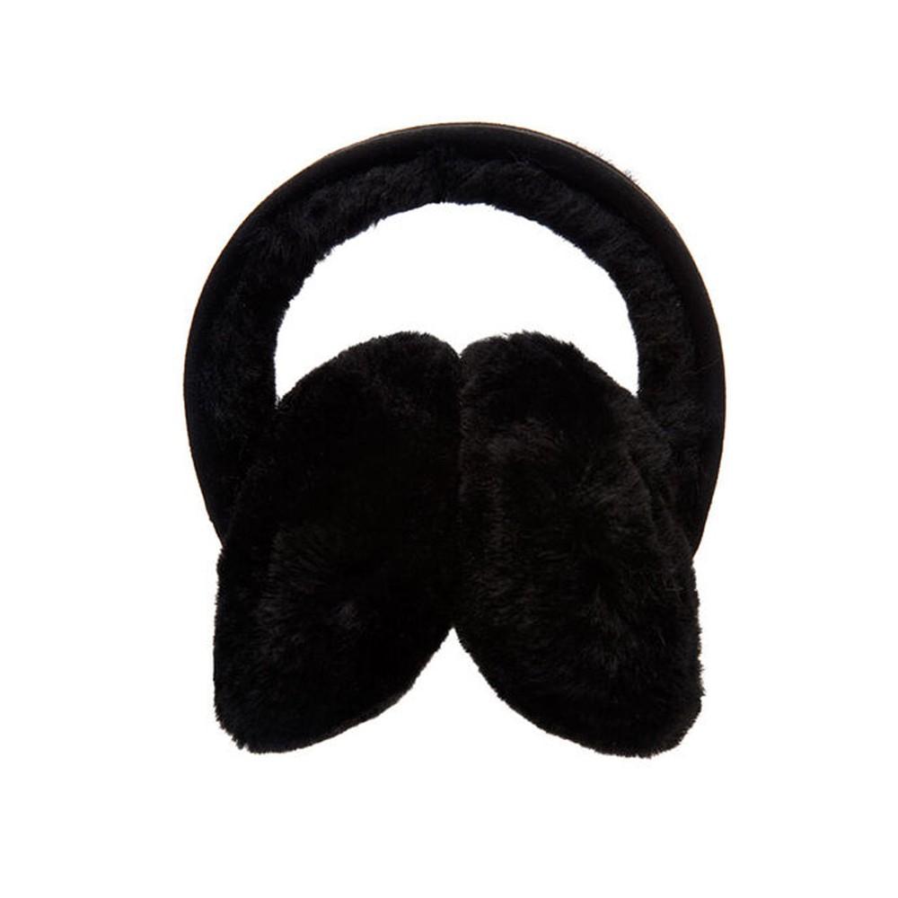 Angahook Sheepskin Earmuffs - Black
