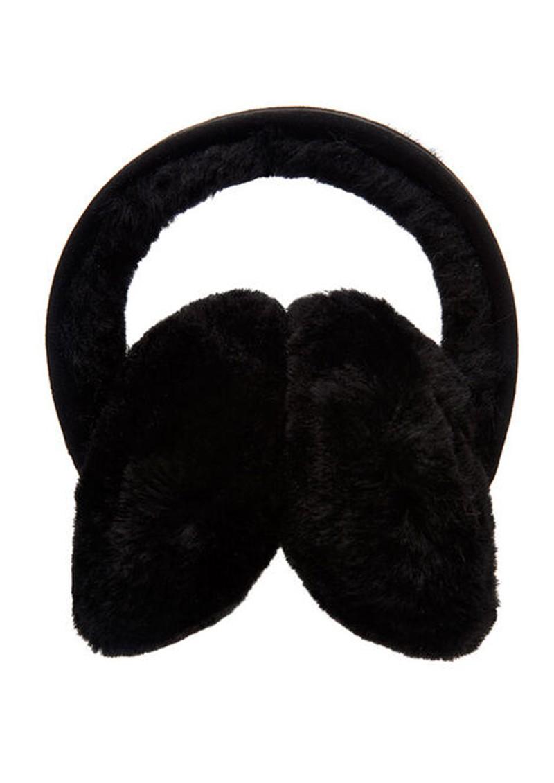EMU Angahook Sheepskin Earmuffs - Black main image
