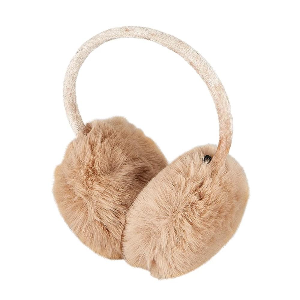 Edie Faux Fur Earmuffs - Camel