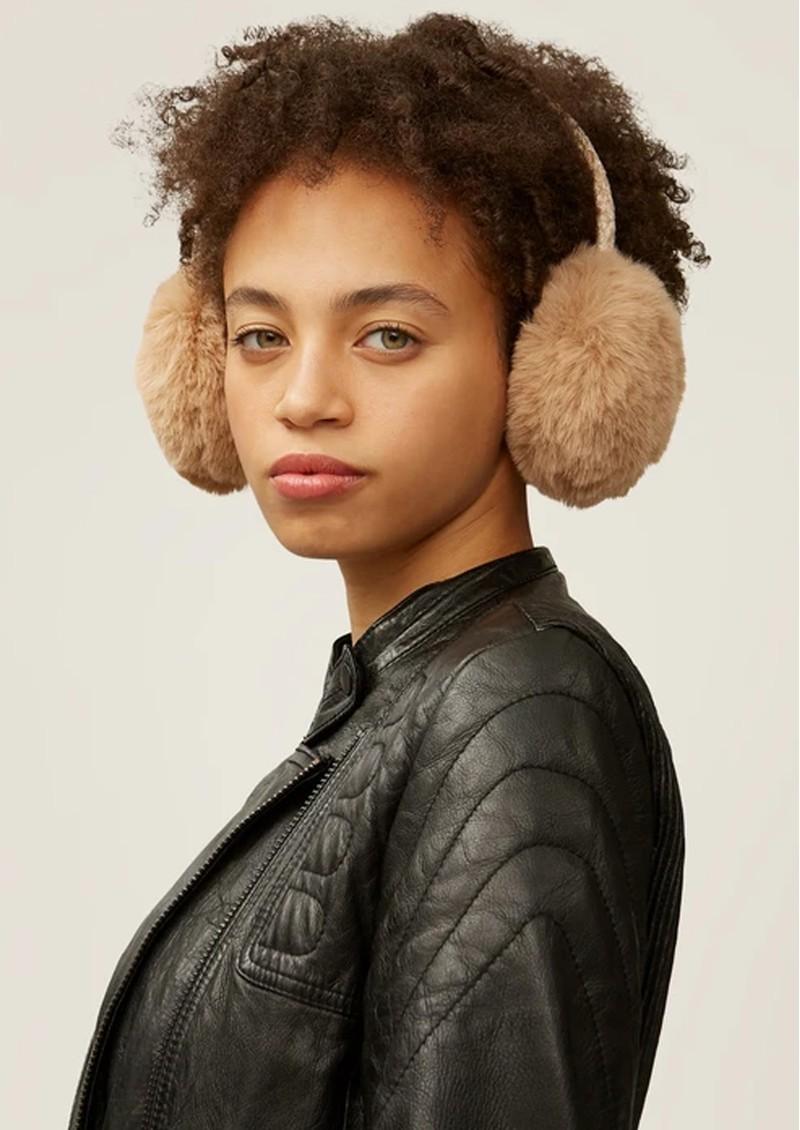 NOOKI Edie Faux Fur Earmuffs - Camel  main image