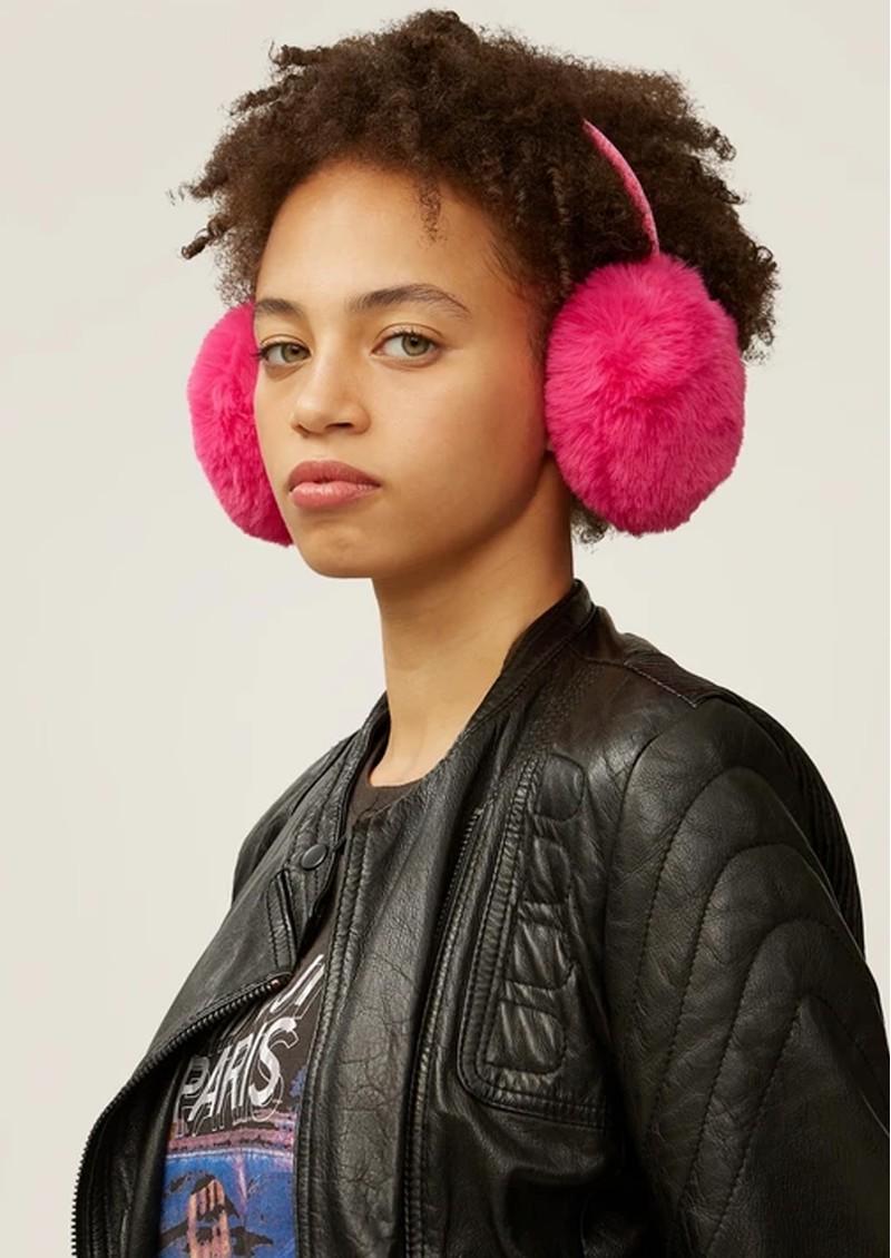 NOOKI Edie Faux Fur Earmuffs - Hot Pink  main image