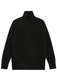JUMPER 1234 Lightweight Roll Collar Cashmere Jumper - Black